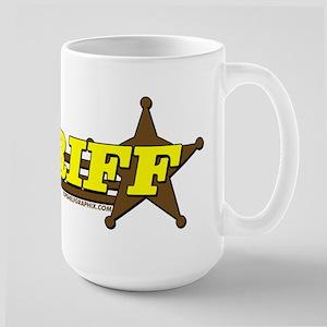 SHERIFF ~ YELLOW-BROWN Large Mug