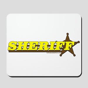SHERIFF ~ YELLOW-BROWN Mousepad