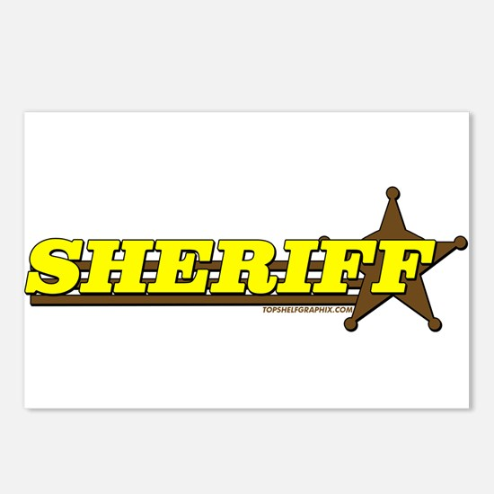 SHERIFF ~ YELLOW-BROWN Postcards (Package of 8)