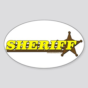 SHERIFF ~ YELLOW-BROWN Oval Sticker