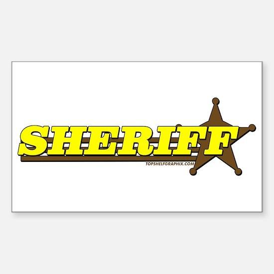 SHERIFF ~ YELLOW-BROWN Rectangle Decal