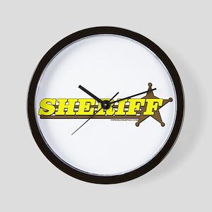 SHERIFF ~ YELLOW-BROWN Wall Clock