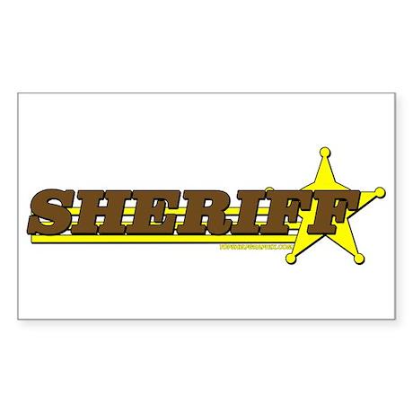 SHERIFF ~ BROWN-YELLOW Rectangle Sticker