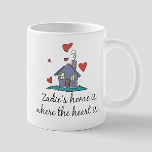 Zadie's Home is Where the Heart Is Mug