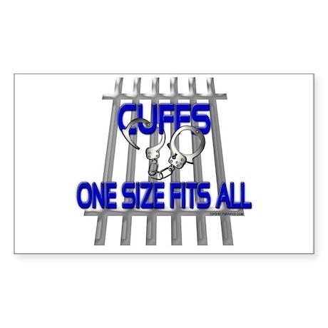 CUFFS Rectangle Sticker