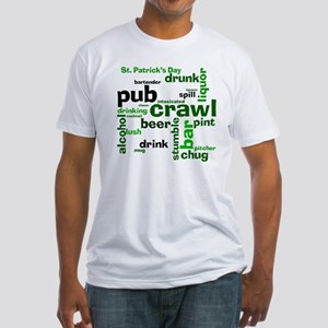 St. Patrick's Day Pub Crawl Fitted T-Shirt