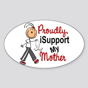 I Support My Mother 1 (SFT LC) Oval Sticker
