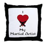 I Love (Heart) My Martial Artist Throw Pillow