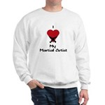 I Love (Heart) My Martial Artist Sweatshirt