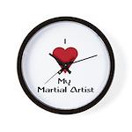 I Love (Heart) My Martial Artist Wall Clock
