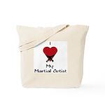 I Love (Heart) My Martial Artist Tote Bag