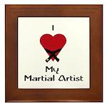 I Love (Heart) My Martial Artist Framed Tile