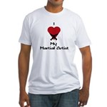I Love (Heart) My Martial Artist Fitted T-Shirt