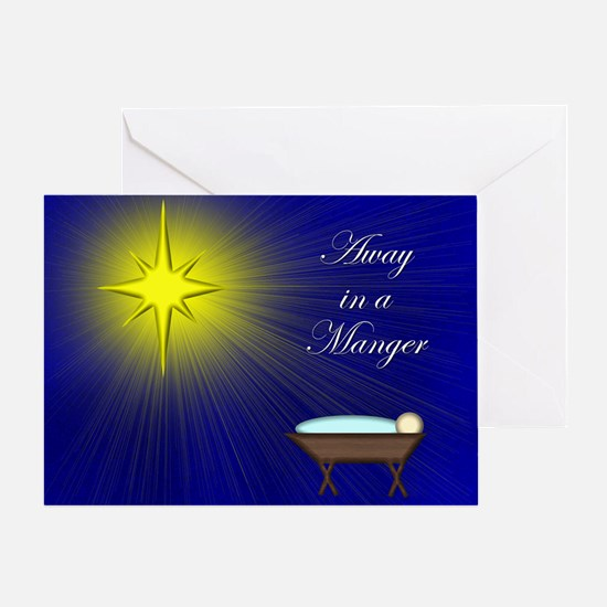 Luke 2:11 Manger Greeting Card