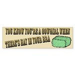 Cowgirl - Hay in your bra Bumper Sticker (50 pk)