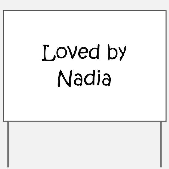 Unique Nadia Yard Sign