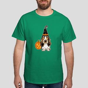Halloween Pumkin Basset Dark T-Shirt