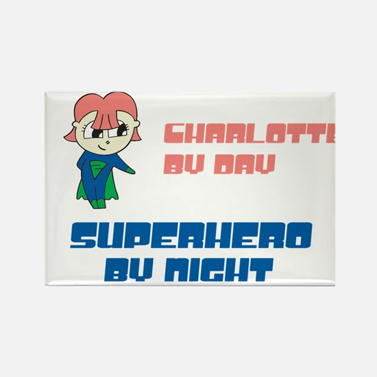 Charlotte - Super Hero by Nig Rectangle Magnet