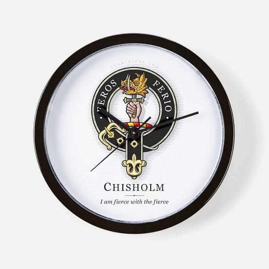 Clan Chisholm Wall Clock