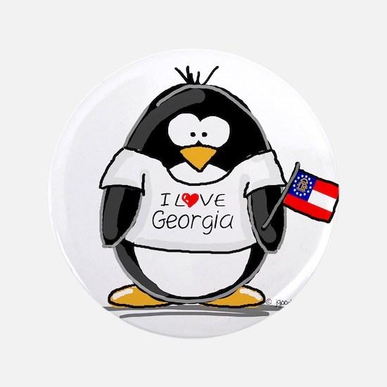 "Georgia Penguin 3.5"" Button"