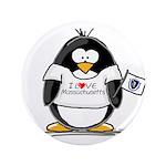 """Massachusetts Penguin 3.5"""" Button"""