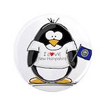 "New Hampshire Penguin 3.5"" Button"