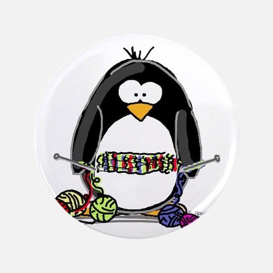 """Knitting Penguin 3.5"""" Button"""