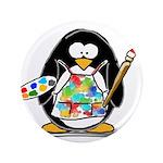 "Artist penguin 3.5"" Button"