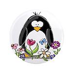 """Garden penguin 3.5"""" Button"""