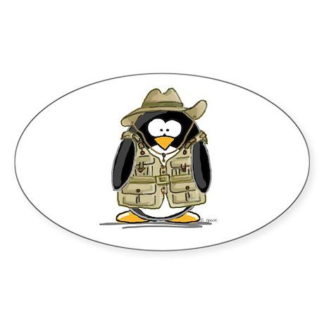 Jungle Safari Penguin Oval Sticker