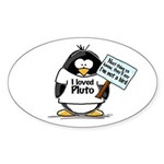 Pluto Penguin Oval Sticker