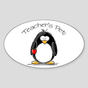 Teachers Pet Penguin Oval Sticker