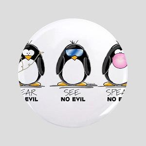 """Hear no See no Speak No Evil 3.5"""" Button"""