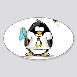 linux vs windows Penguin Oval Sticker