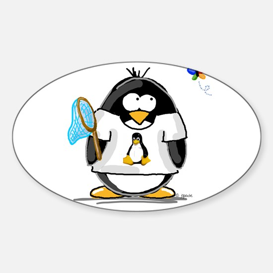 linux vs windows Penguin Oval Decal