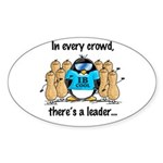 In Every Crowd Penguin Oval Sticker