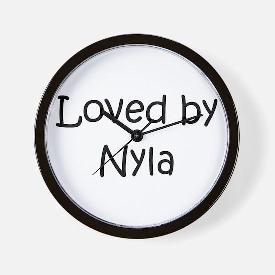 Funny Nyla Wall Clock