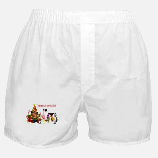 CHRISTMAS IS FOR THE BIRDS Boxer Shorts