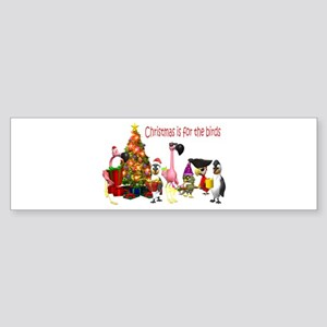 CHRISTMAS IS FOR THE BIRDS Bumper Sticker