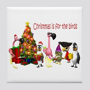 CHRISTMAS IS FOR THE BIRDS Tile Coaster