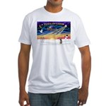 XmasSunrise/Xolo Fitted T-Shirt