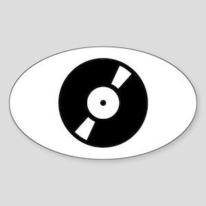 Retro Classic Vinyl Record Oval Sticker