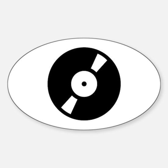 Retro Classic Vinyl Record Oval Decal