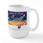 XmasSunrise/Yorkie #9 Large Mug