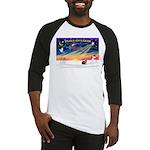 XmasSunrise/Yorkie #9 Baseball Jersey