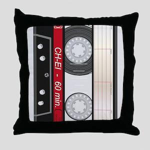 Audio Cassette Throw Pillow