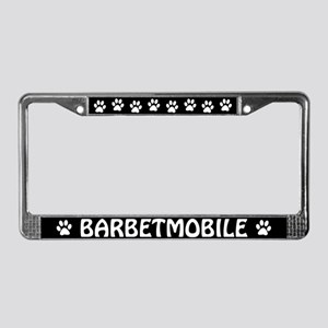 Barbetmobile License Plate Frame