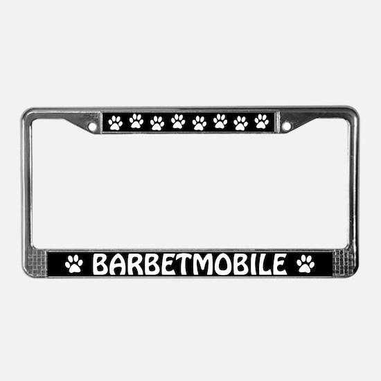 Barbetmobile License Plate Frame