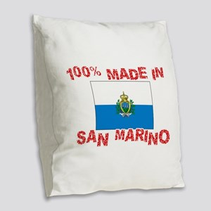 100 Percent Made In San Marino Burlap Throw Pillow