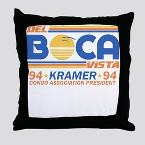 Seinfeld Boca College Humor Throw Pillow